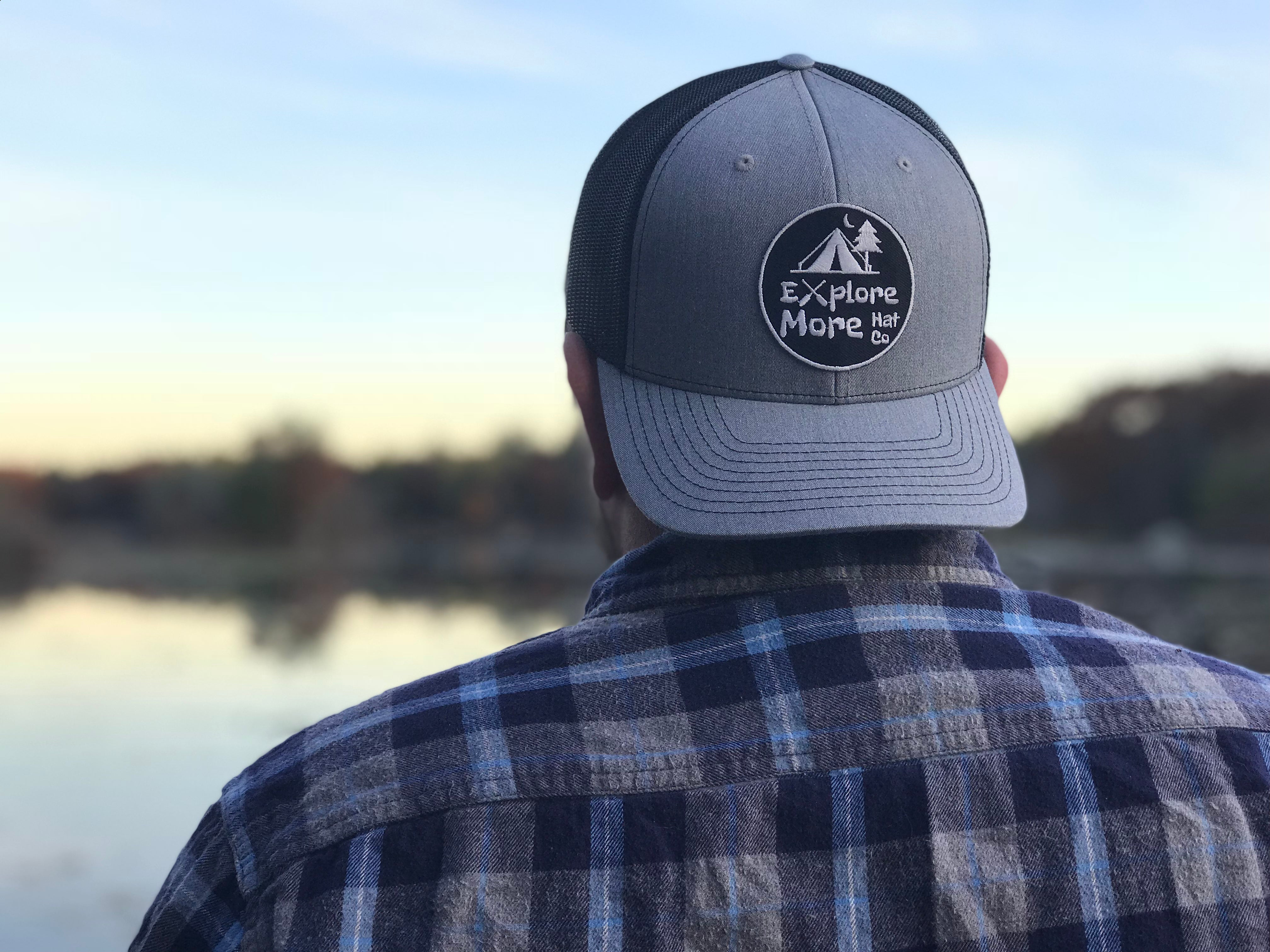 The Explorer- Grey And Black - Explore More Hat Co