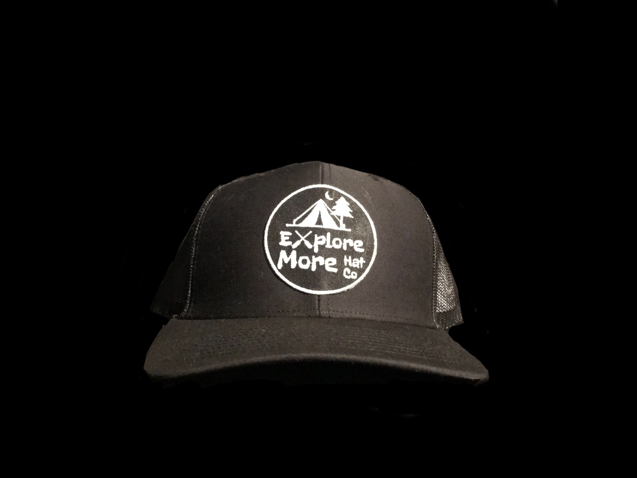 The Explorer- Black Out - Explore More Hat Co