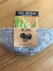 "Root Pouch - Joey-Small 5""x3"" W/ Cat Grass and Free Soil!"