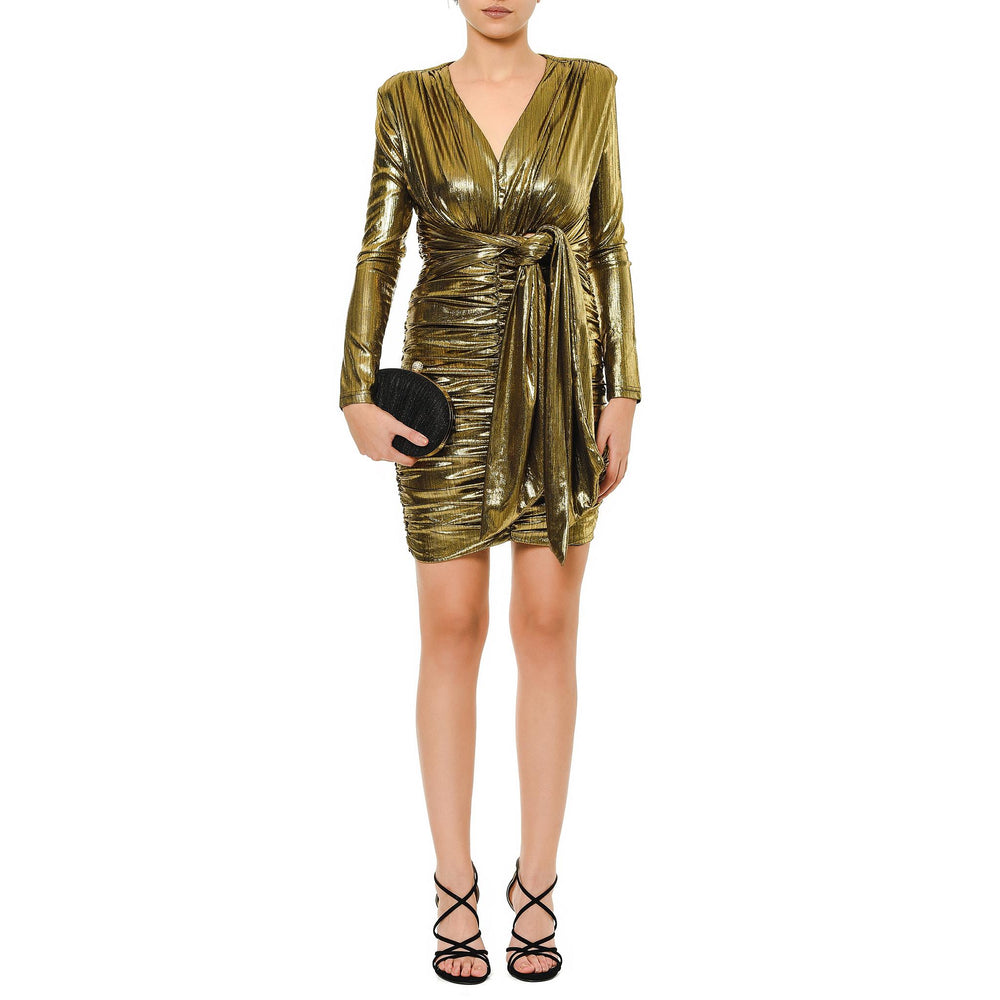 Jennifer short Mysabella gold dress