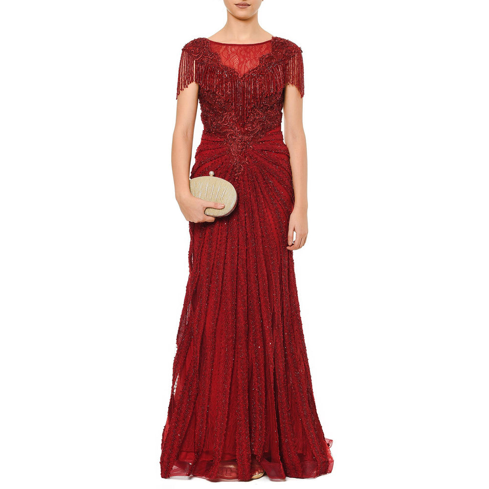 Amore Mio night Mysabella burgundy dress