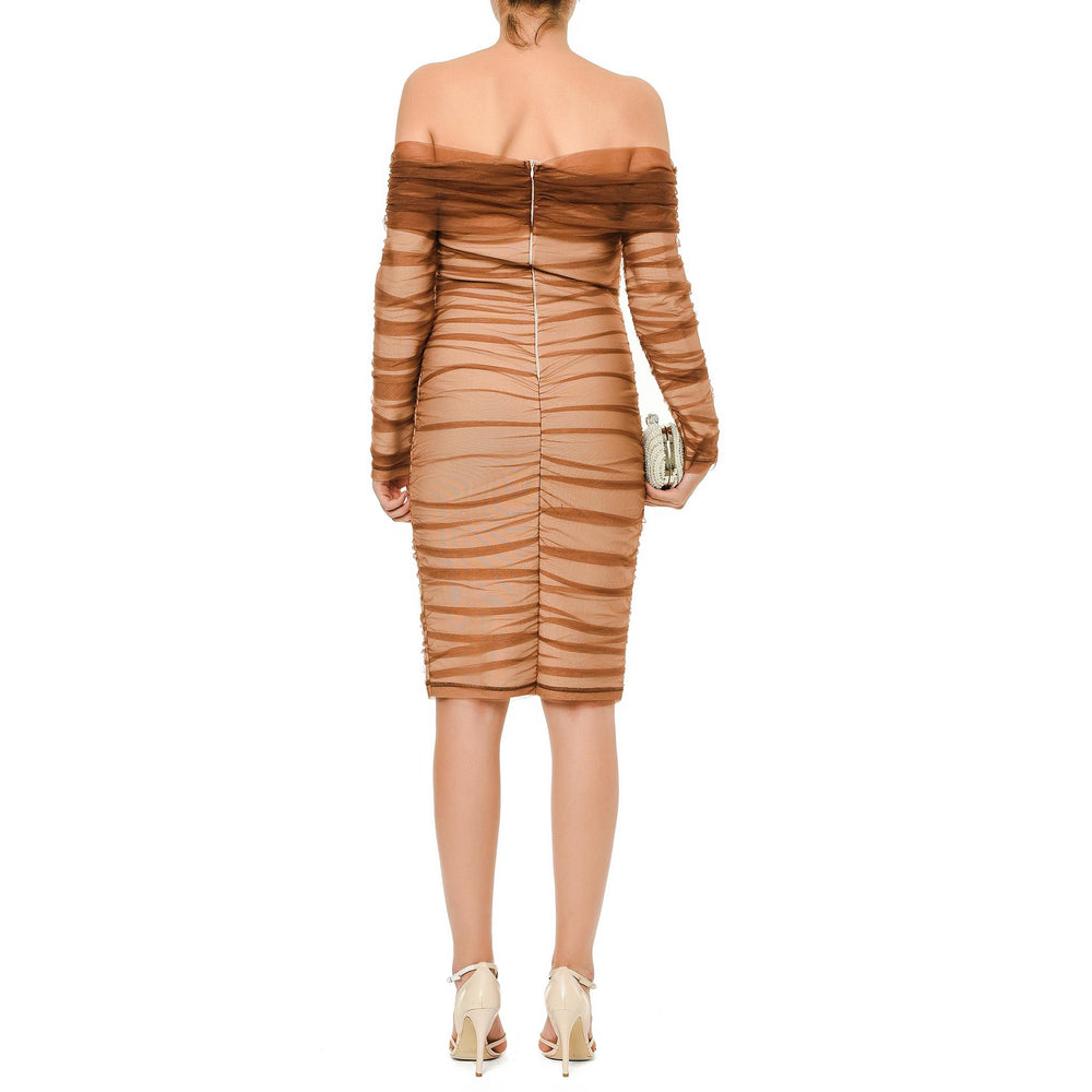 Victoria Short Dress Mysabella Brown