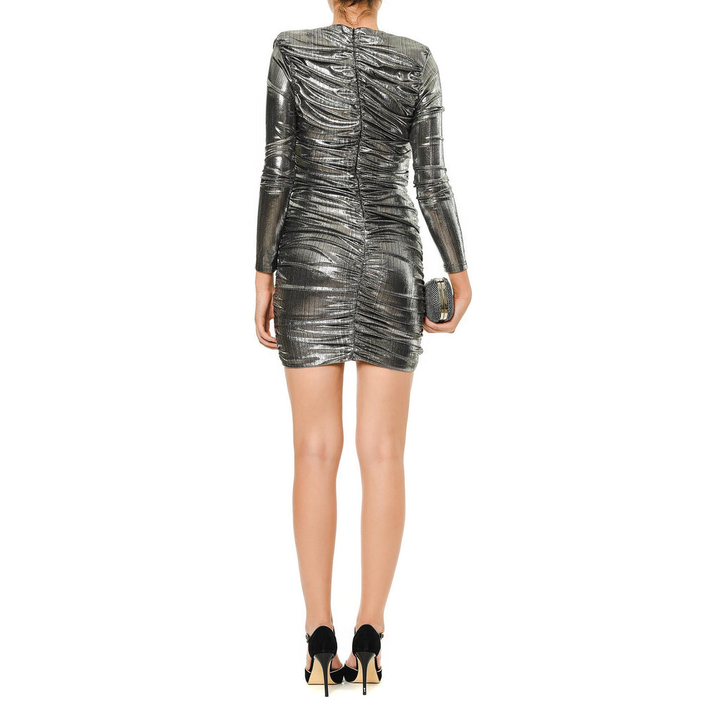 Jennifer Mysabella Silver short dress