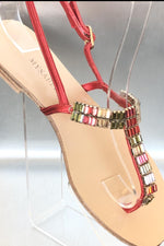 Rogue arcenciel Mysabella red sandals