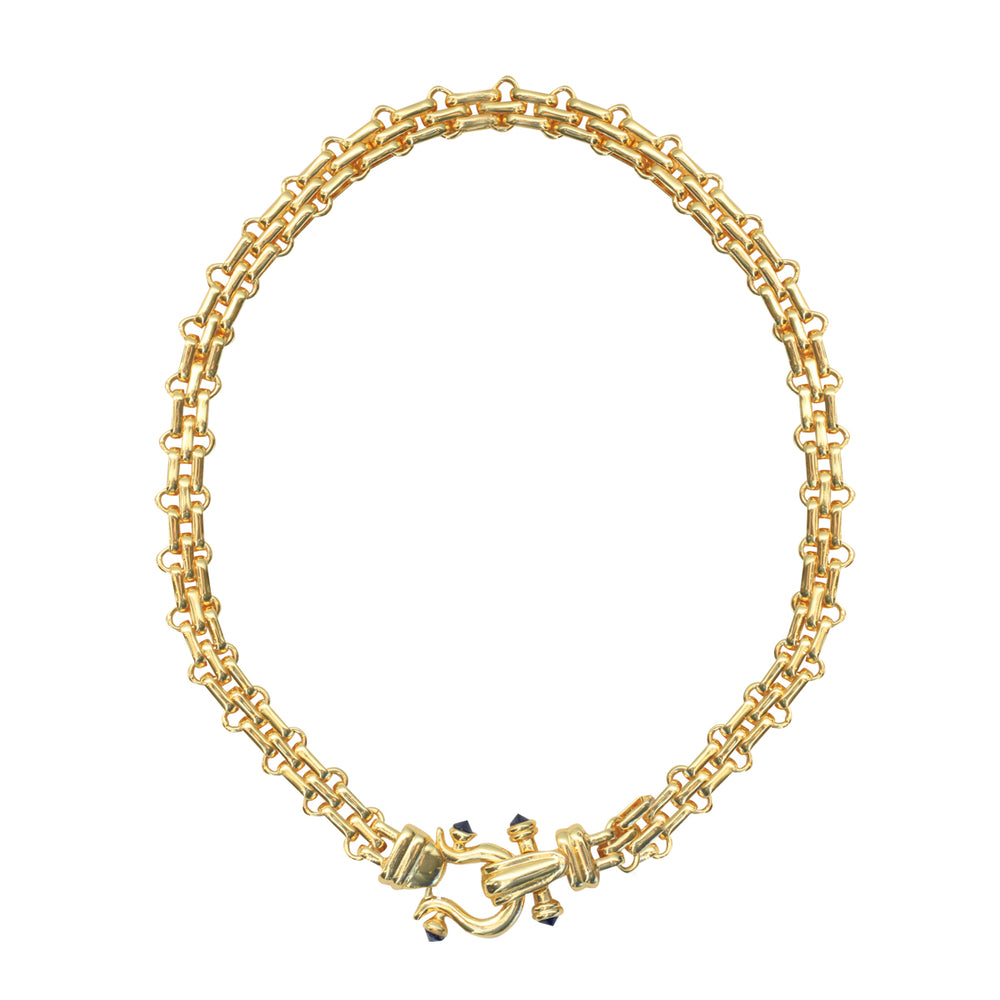 Mason Ponponiere gold necklace