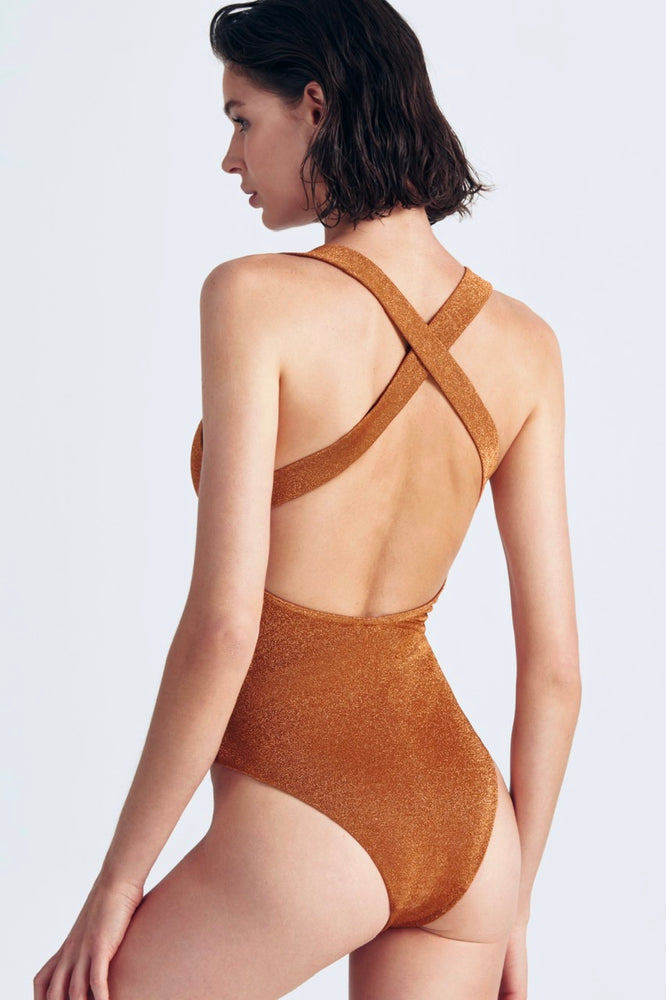 Bowie One-Piece Shiny Orange Moeva