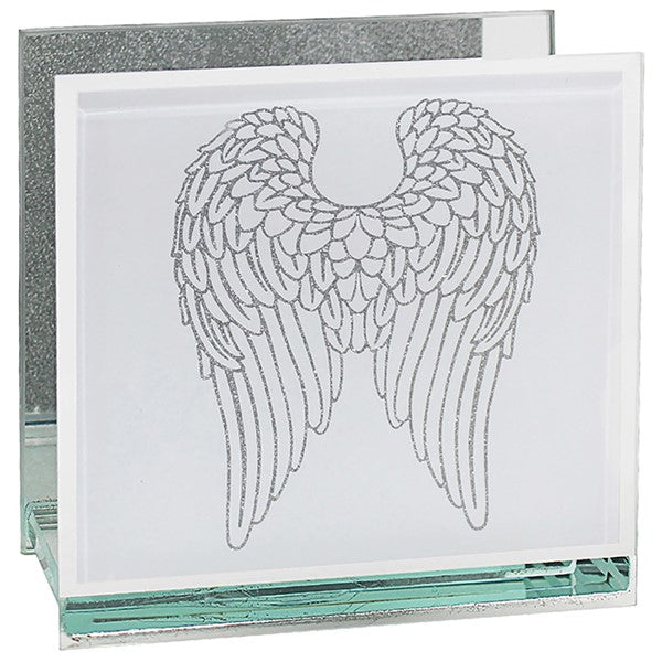 Mirrored Angel Wings Tealight Holder