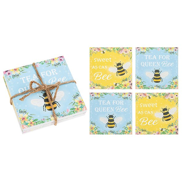 Bee Happy Set Of Four Coasters
