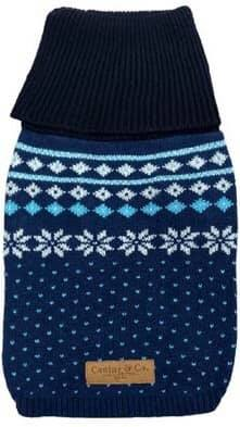 Blue Fairisle Dog Jumper