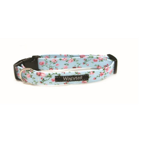 Blue Floral Dog Collar