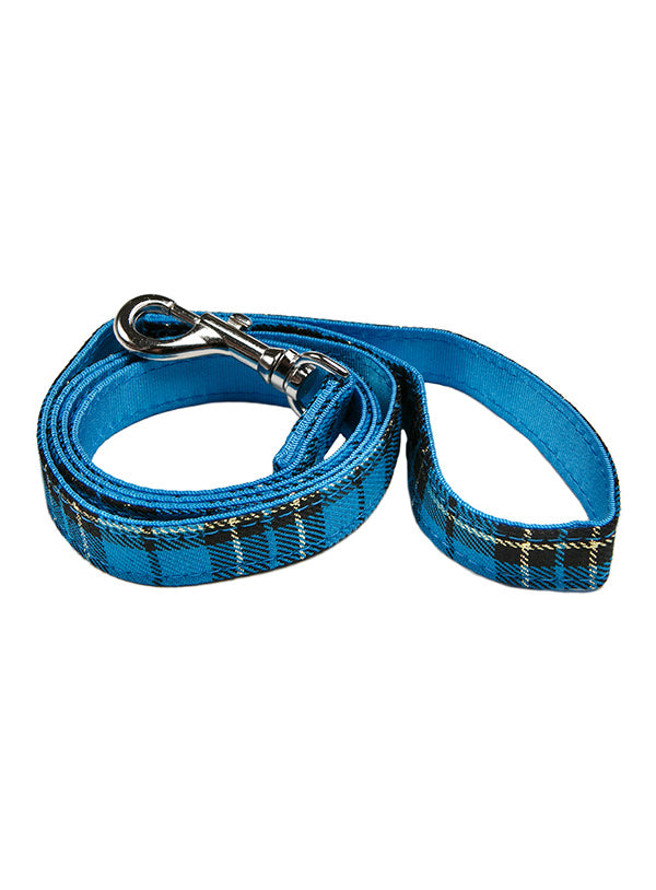 Blue Tartan Dog Lead