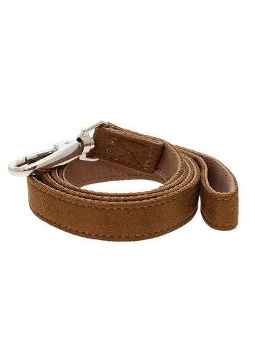 Brown Faux Shearling Lead