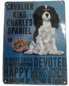 Cavalier Metal Sign Plaque