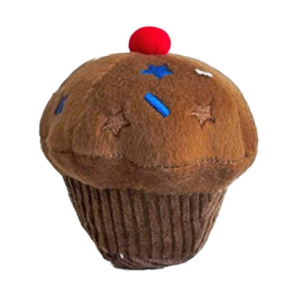 Chocolate Cupcake Plush Dog Toy