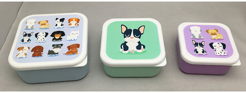 Dog Squad Set Of 3 Lunch Boxes