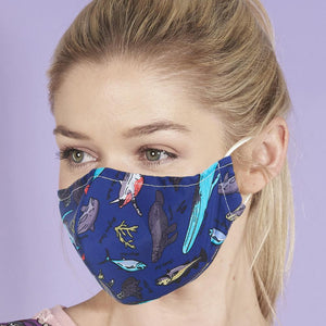 Eco Chic Reusable Face Cover - Blue Sea Creatures