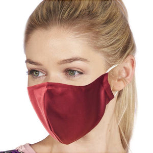 Eco Chic Reusable Face Cover - Merlot