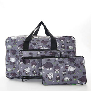 Eco Chic Grey Sheep Foldable Holdall