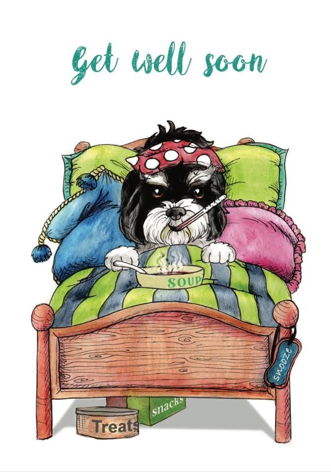 Put Your Feet Up And Get Well Soon Greetings Card