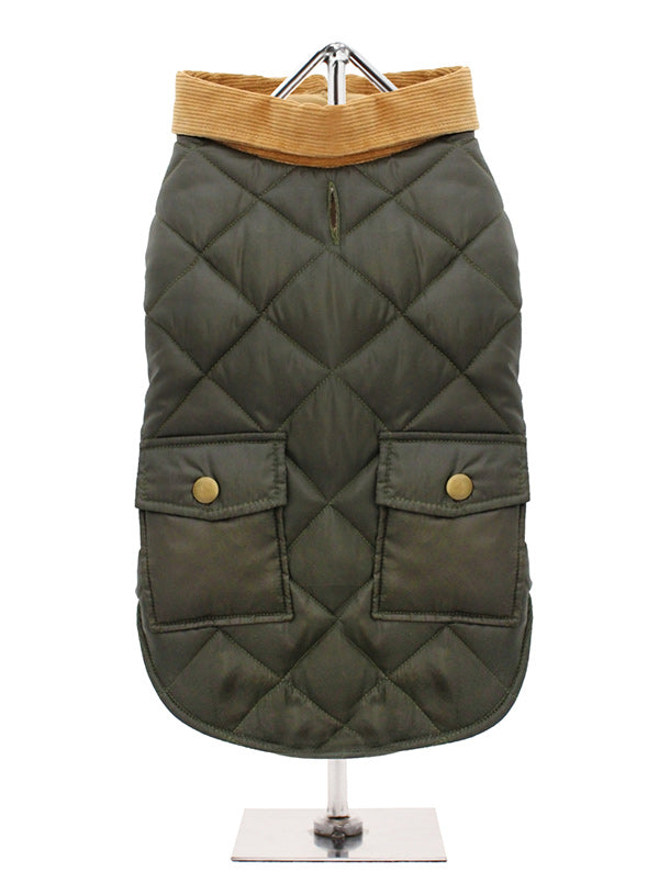 Green Quilted Town & Country Coat