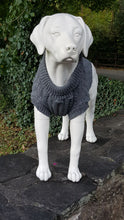 Grey Chunky Cable Knit Dog Jumper