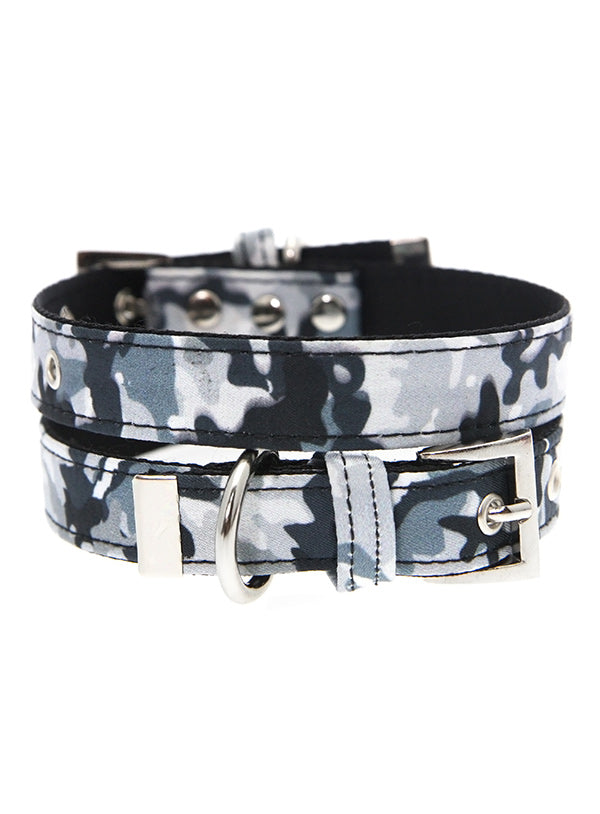 Grey Camouflage Dog Collar