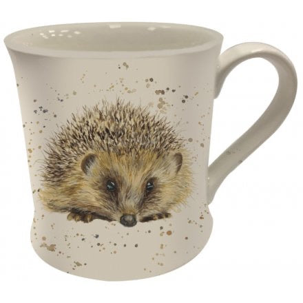 Rustic Hedgehog Fine China Mug