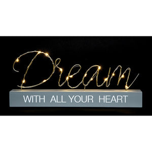 LED Dream With All Your Heart Ornament