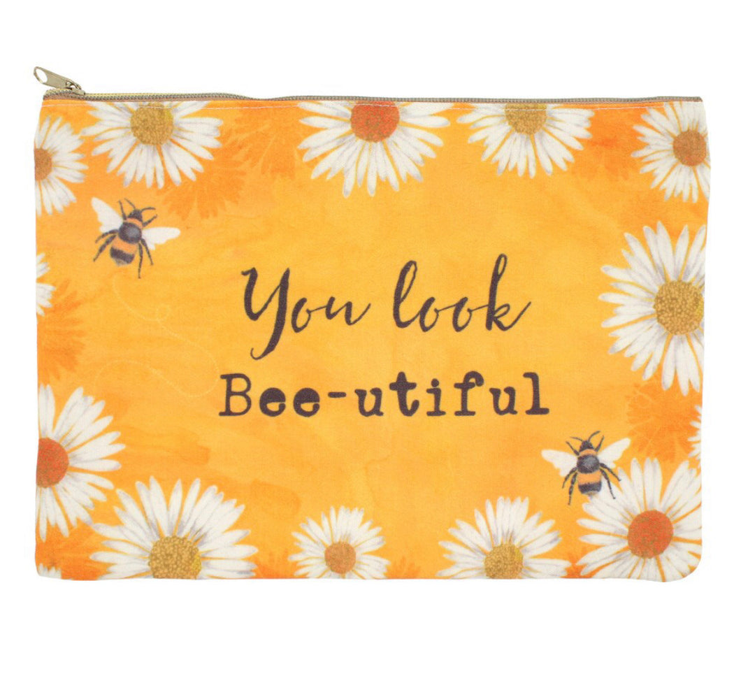 You Look Bee-utiful Makeup Pouch