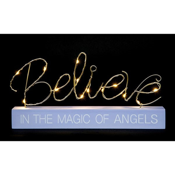 LED Believe In The Magic Of Angels Ornament