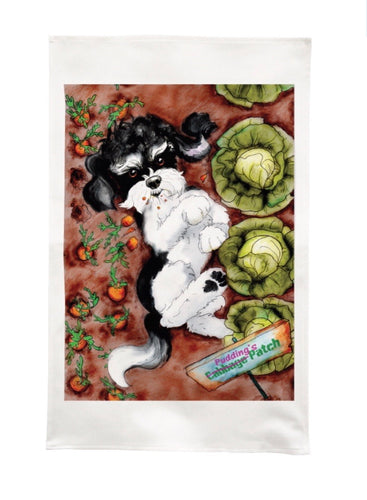 Pudding's Patch Tea Towel