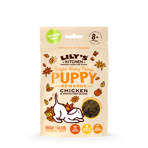 Lily's Kitchen Chicken And White Fish Slices Treats For Puppies