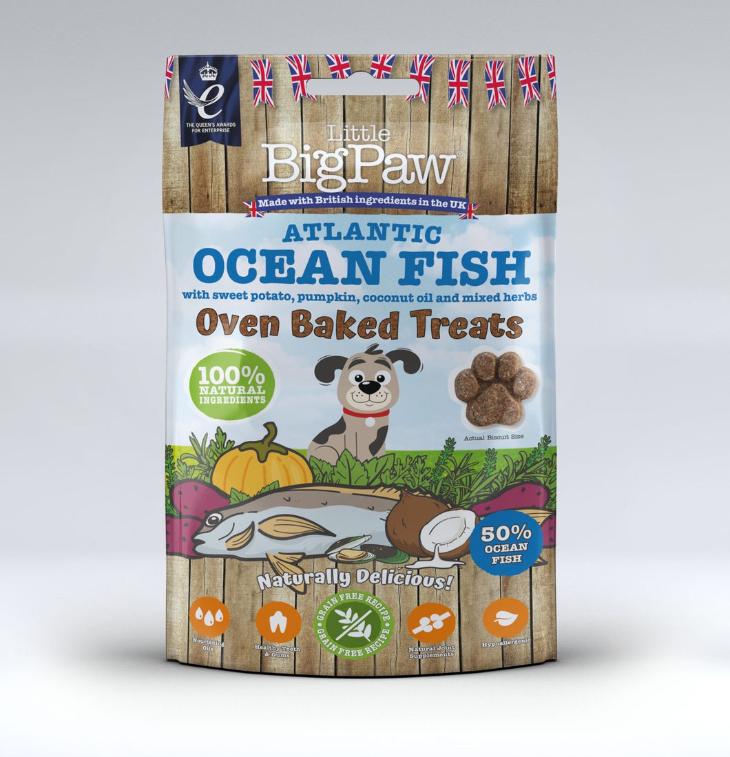 Little BigPaw Oven Baked Atlantic Ocean Fish Treats for Dogs