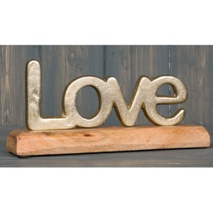 Gold Love Text Ornament