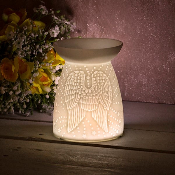 Angel Wings White Wax Warmer