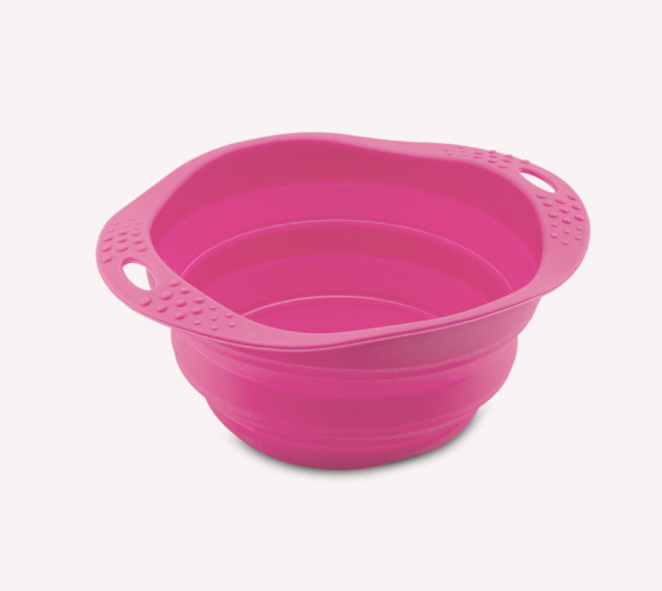 Beco Collapsible Travel Bowl Pink