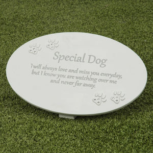 Thoughts Of You Memorial Plaque - Dog