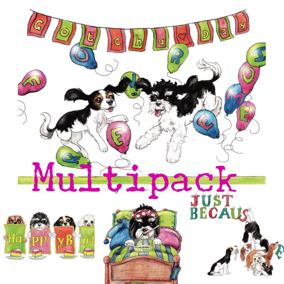 *NEW* Greetings Cards (Multipack x 4 x 8 or x 12)