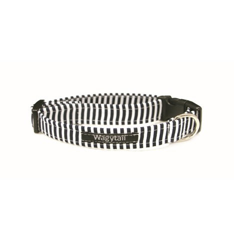 Navy Stripe Dog collar