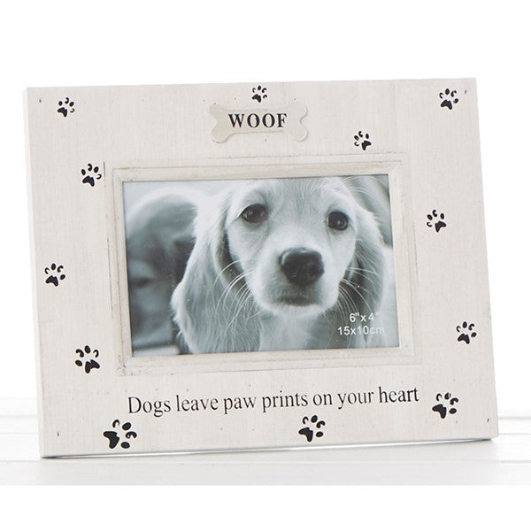 Dogs Leave Paw Prints On Your Heart Frame