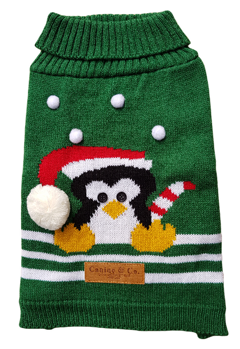 Penguin Christmas Dog Jumper