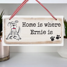 Personalised Wooden Dog Sign