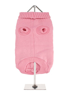 Pink Cable Knit Dog Jumper