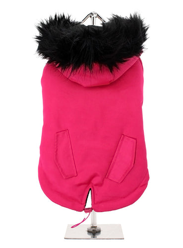 Hot Pink Fishtail Dog Parka Coat