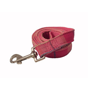 Pink Plaid Dog Lead