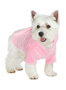 Pink Plush Dog Bathrobe