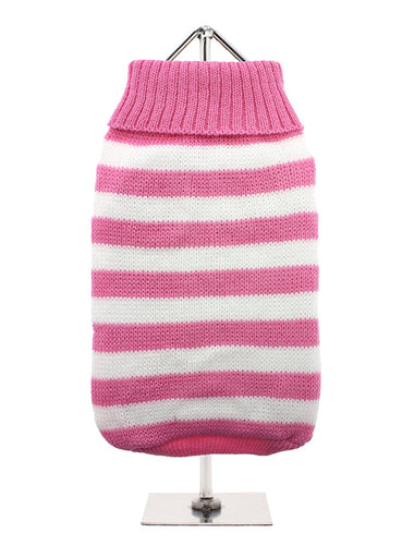 Pink & White Candy Stripe Dog Jumper