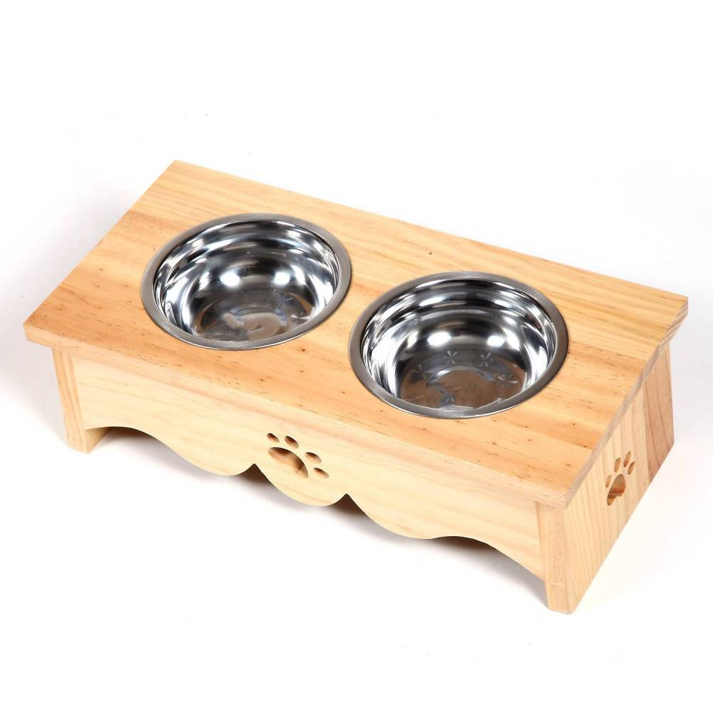 Polished Wooden Twin Bowl