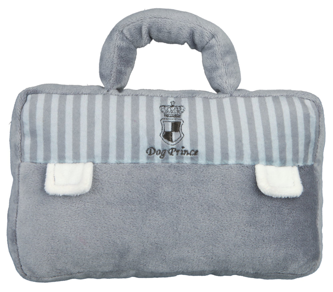 Prince Briefcase Plush Dog Toy