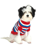 Red, White & Blue Striped Dog Jumper